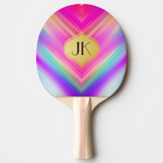 Cool, Retro & Edgy Reflections No. 7 Ping Pong Paddle