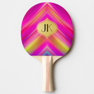 Cool, Retro & Edgy Reflections No. 8 Ping Pong Paddle