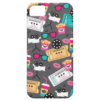 Cool retro film night and popcorn pattern iPhone 5 cases