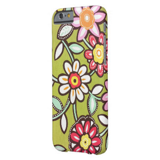 Cool Retro Flowers Barely There iPhone 6 Case