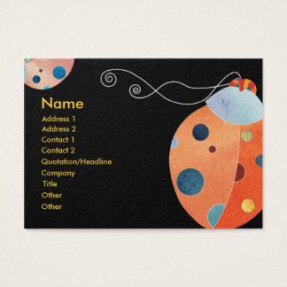 Cool Retro Ladybug Business Cards