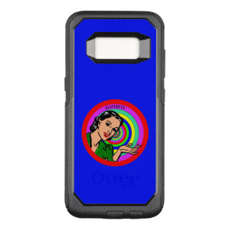 Cool Retro Pop Art Girl In Color Circles OtterBox Commuter Samsung Galaxy S8 Case