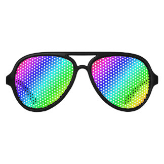 Cool retro rainbow color gradient party shades