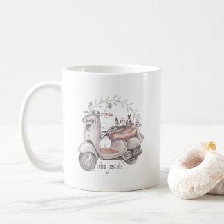 Cool Retro Scooter Coffee Mug