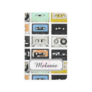 Cool retro vintage cassettes mix tapes pattern journals