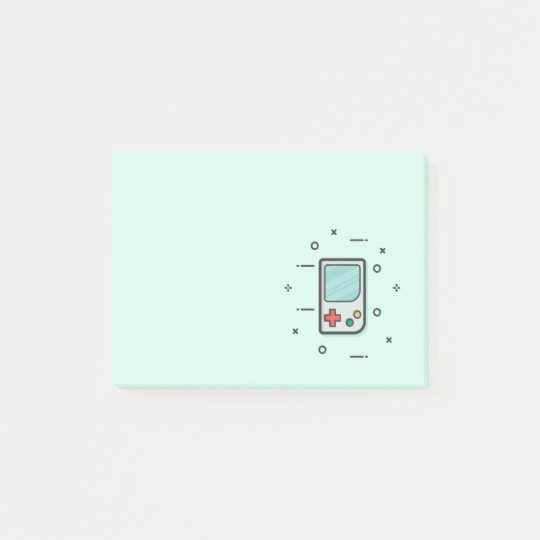 Cool Retro Vintage Handheld Video Game Console Post-it Notes