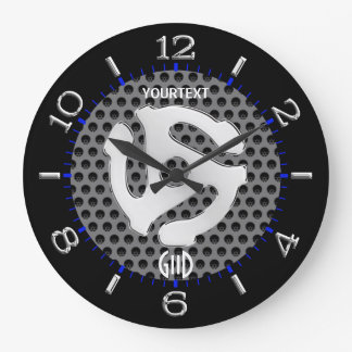 COOL Retro Yellow 45 spacer DJ Dial on a Large Clock