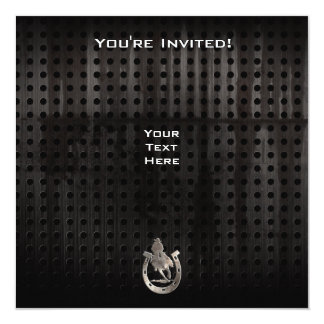"Cool Rodeo 5.25"" Square Invitation Card"