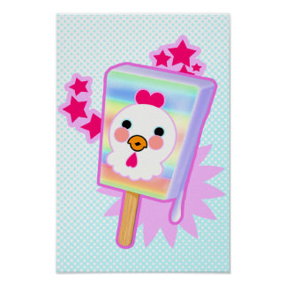 Cool Rooster Ice Cream Pop - Poster