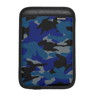 Cool Rough Blue Camo Military iPad Mini Sleeves