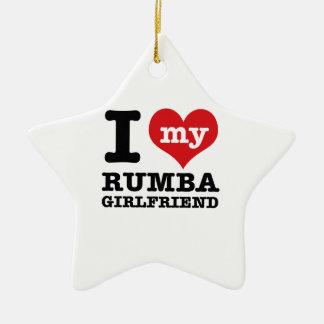 Cool Rumba designs Ceramic Star Ornament