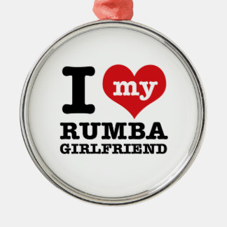 Cool Rumba designs Silver-Colored Round Ornament