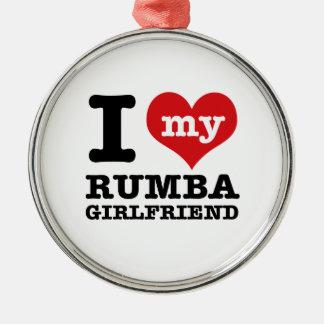 Cool Rumba designs Silver-Colored Round Ornament