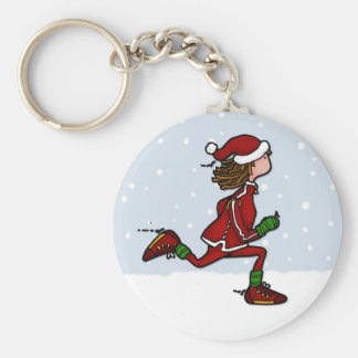 cool runnings (woman) basic round button keychain
