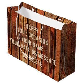 Cool Rustic Personalized Gift Bags for Guys