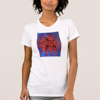 Cool Rustic Star Pop Art Print T-shirt