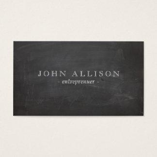 Cool Rustic Vintage Guy's Black Chalkboard Business Card
