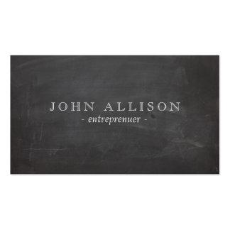 Cool Rustic Vintage Guy's Black Chalkboard Pack Of Standard Business Cards