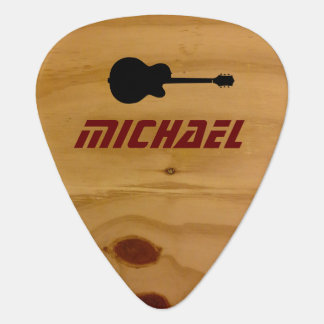cool rustic wood guitar picks with name pick