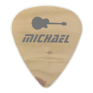 cool rustic wood rock guitar picks with name