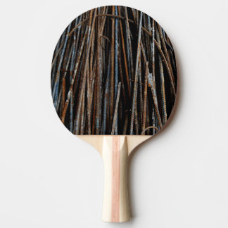 Cool Rusty Industrial Bars Ping Pong Paddle