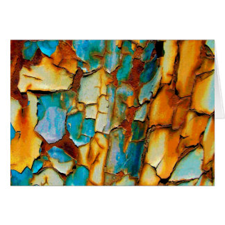 Cool Rusty Paint Rust Old Paintwork Cracked Card