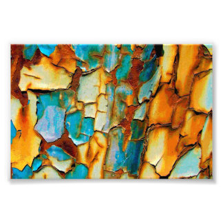 Cool Rusty Paint Rust Old Paintwork Cracked Photo Print