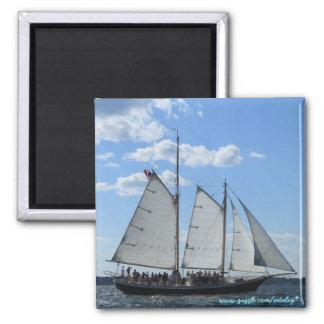 Cool sailing ship magnet design