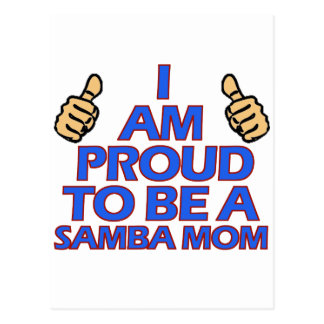 cool samba mom designs postcard