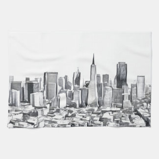 Cool San Francisco SF Citiscape Hand Towels