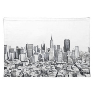 Cool San Francisco SF Citiscape Placemats
