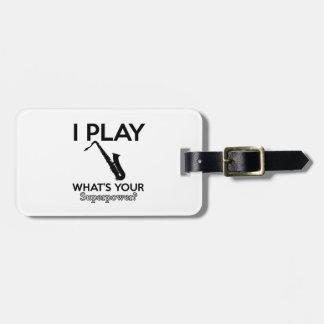 cool saxophone designs luggage tag