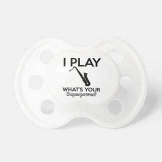 cool saxophone designs pacifier