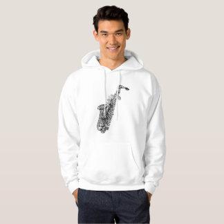 Cool saxophone hoodie