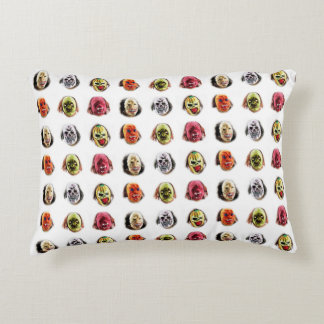 Cool Scary Mask Pattern Accent Pillow