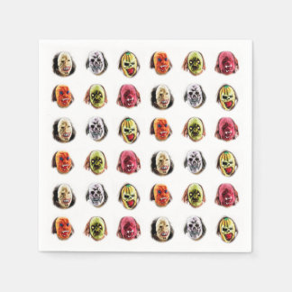Cool Scary Mask Pattern Disposable Napkins