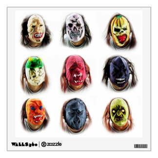 Cool Scary Masks Wall Sticker