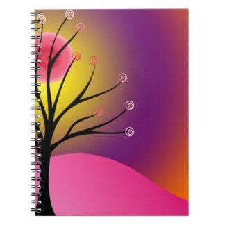 Cool Scene/Tree Silhouette Notebook