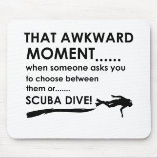 Cool scuba diving  designs mouse pad