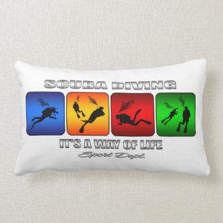 Cool Scuba Diving It Is A Way Of Life Lumbar Pillow