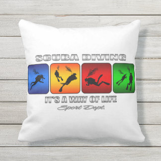 Cool Scuba Diving It Is A Way Of Life Outdoor Pillow