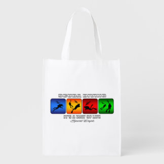 Cool Scuba Diving It Is A Way Of Life Reusable Grocery Bag
