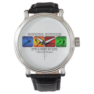 Cool Scuba Diving It Is A Way Of Life Wristwatch