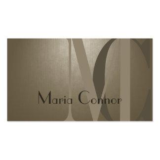 Cool Sepia Pearl Custom Monogram Card Business Card
