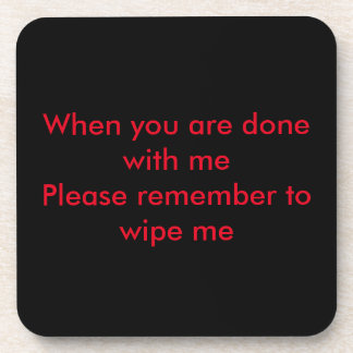 Cool Set of six Hard Plastic Coasters