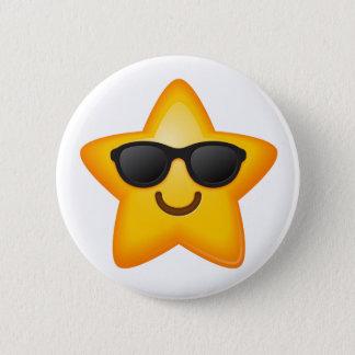 Cool Shades Emoji Star 2 Inch Round Button