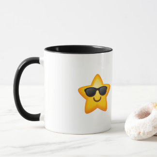 Cool Shades Emoji Star Mug