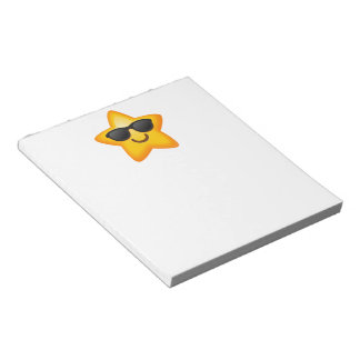 Cool Shades Emoji Star Notepad