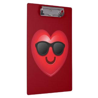 Cool Shades Heart Emoji Clipboard