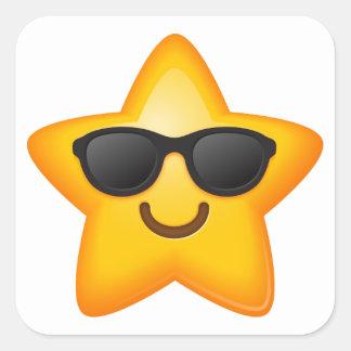 Cool Shades Star Emoji Stickers